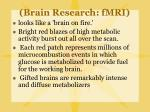 brain research fmri