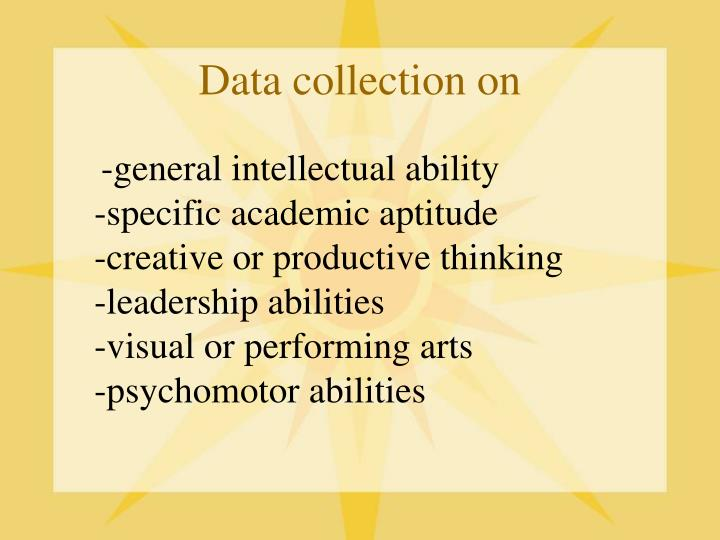 Data collection on