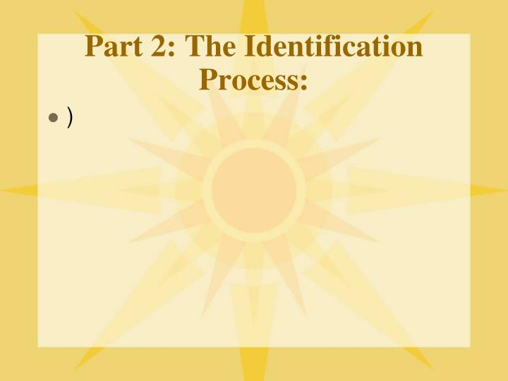 Part 2: The Identification Process: