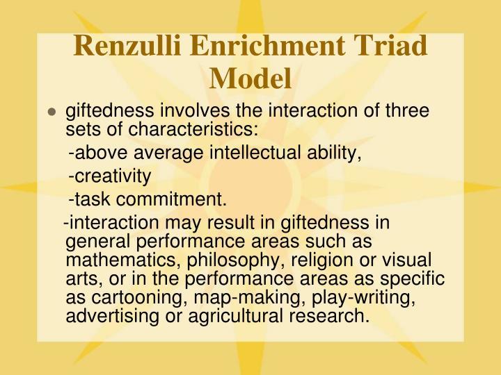 Renzulli Enrichment Triad Model