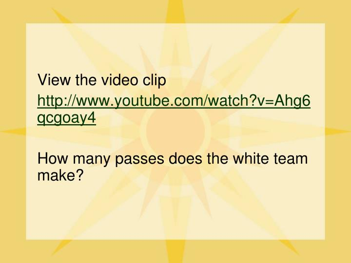 View the video clip