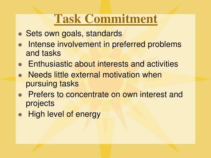 Task Commitment