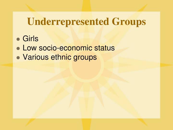 Underrepresented Groups