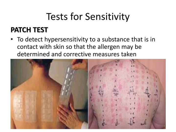 Tests for Sensitivity