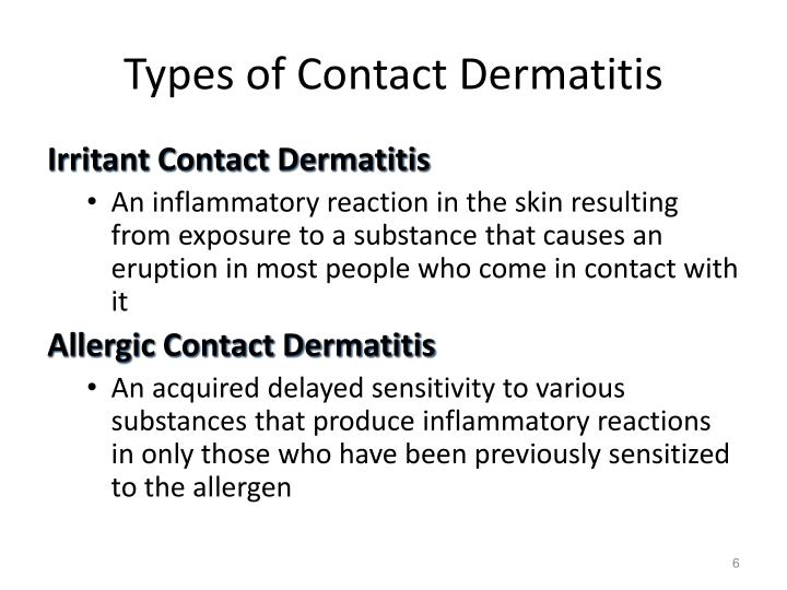 Types of Contact Dermatitis