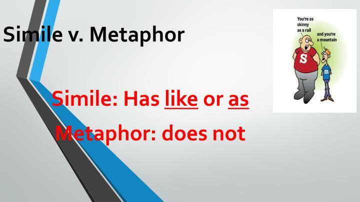 Simile v. Metaphor