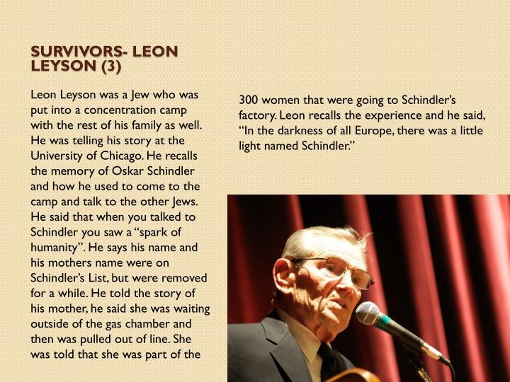 Survivors- Leon Leyson (3)