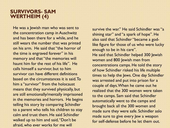 Survivors- Sam Wertheim (4)