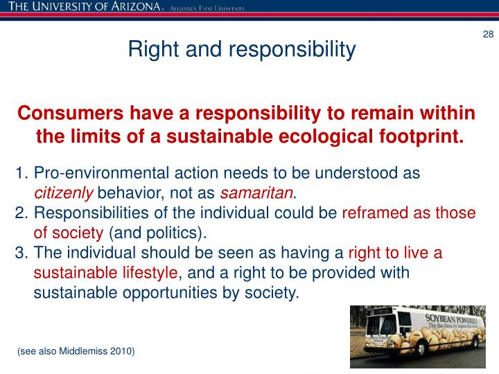 Sustainable consumption the responsibility of consumers