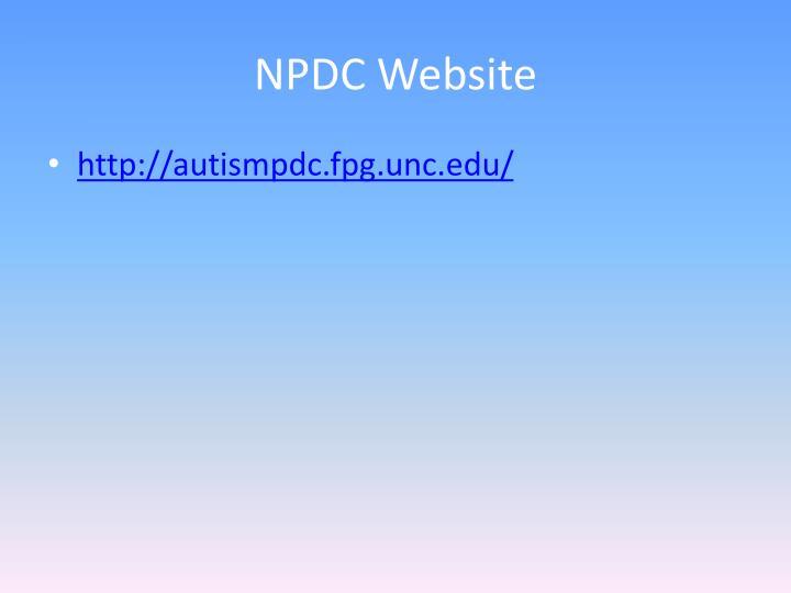 NPDC Website