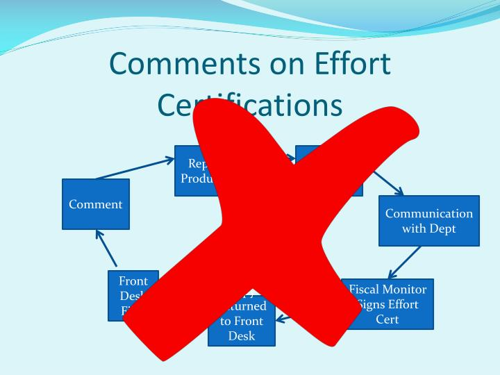 Comments on Effort Certifications