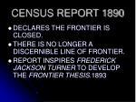 census report 1890