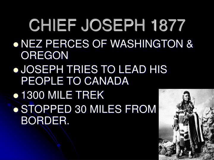 CHIEF JOSEPH 1877