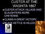 custer at the washita 1867