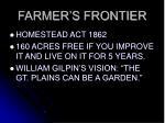 farmer s frontier