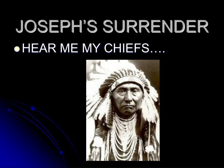 JOSEPH'S SURRENDER
