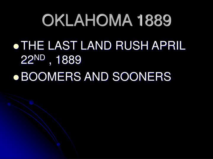 OKLAHOMA 1889