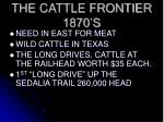 the cattle frontier 1870 s
