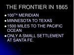 the frontier in 1865