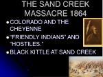 the sand creek massacre 1864