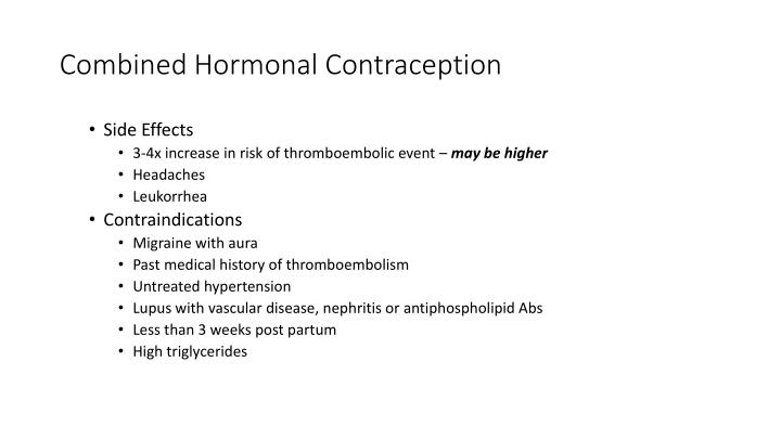 Combined Hormonal Contraception