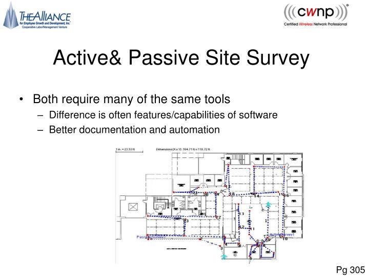 Active& Passive Site Survey