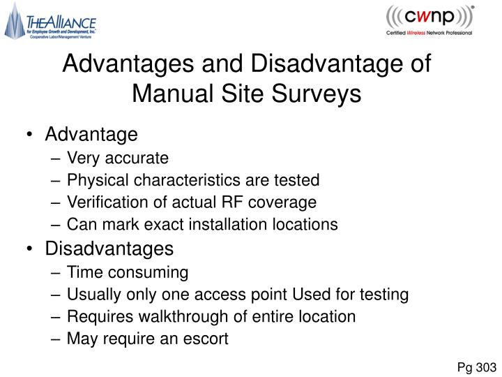 Advantages and Disadvantage of