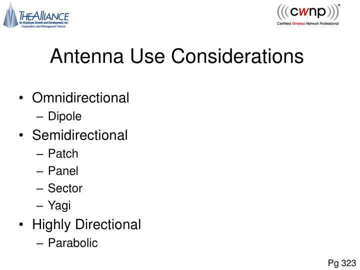 Antenna Use Considerations