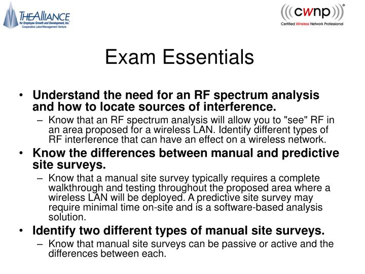 Exam Essentials