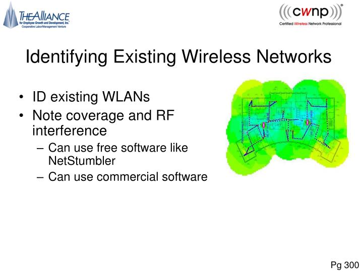 Identifying Existing Wireless Networks