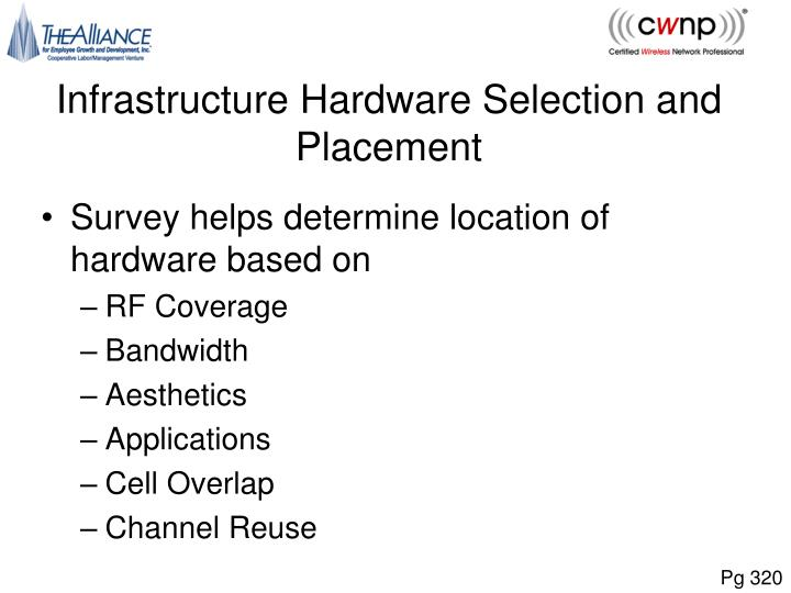 Infrastructure Hardware Selection and Placement