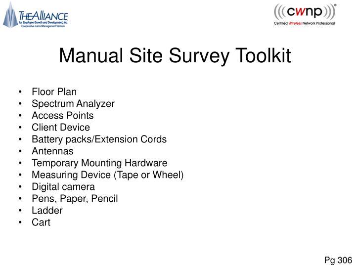 Manual Site Survey Toolkit