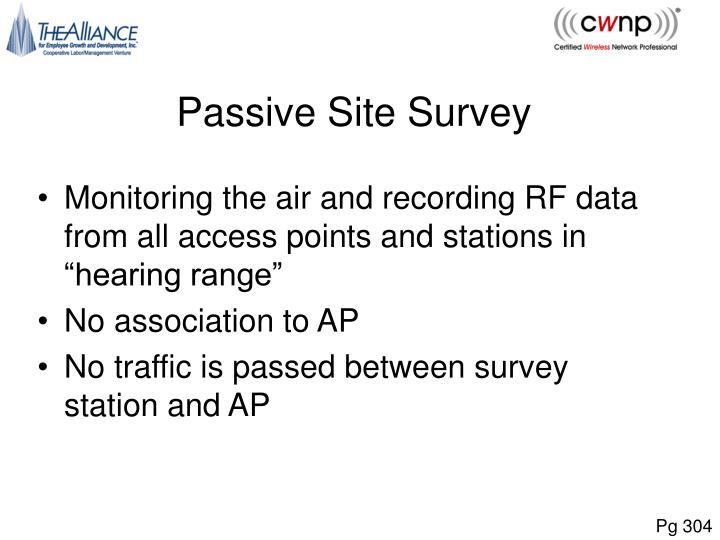 Passive Site Survey