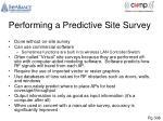 performing a predictive site survey
