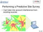 performing a predictive site survey1