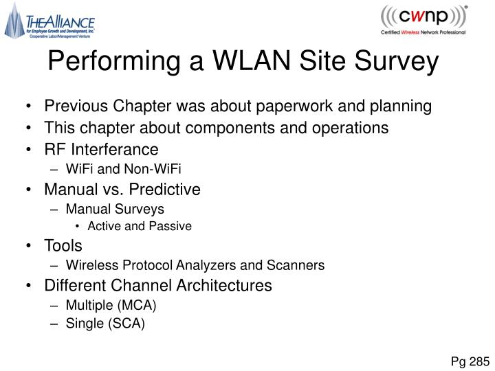 Performing a WLAN Site Survey
