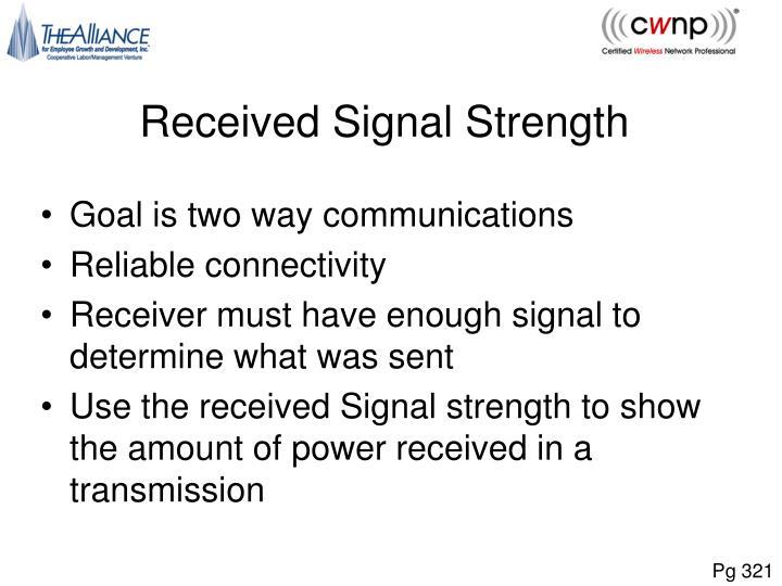 Received Signal Strength
