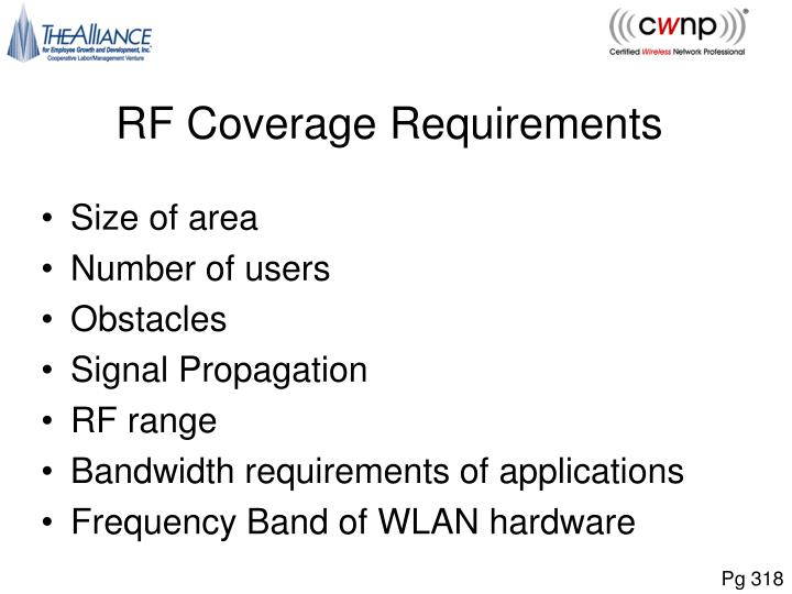 RF Coverage Requirements