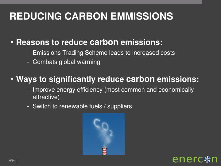 REDUCING CARBON EMMISSIONS