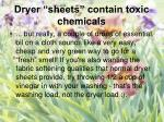 dryer sheets contain toxic chemicals