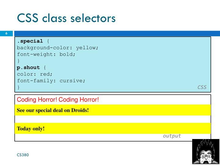 CSS class selectors