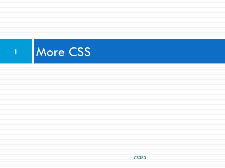 More css