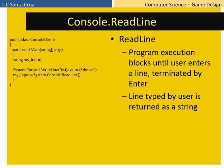 Console.ReadLine
