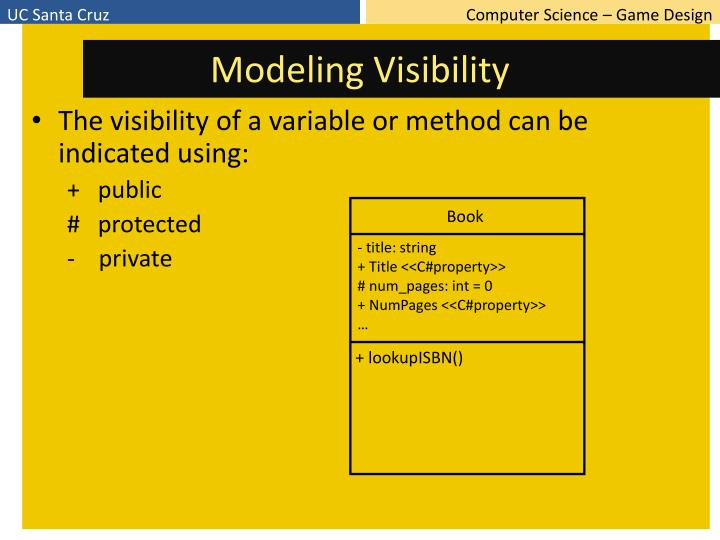 Modeling Visibility