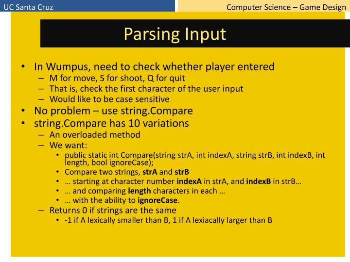 Parsing Input