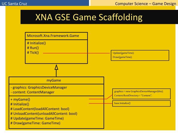 XNA GSE Game Scaffolding