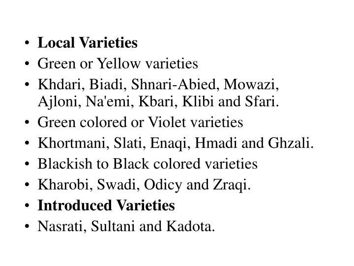 Local Varieties