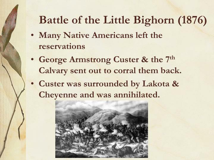 Battle of the Little Bighorn (1876)