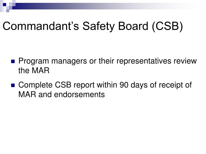Commandant's Safety Board (CSB)