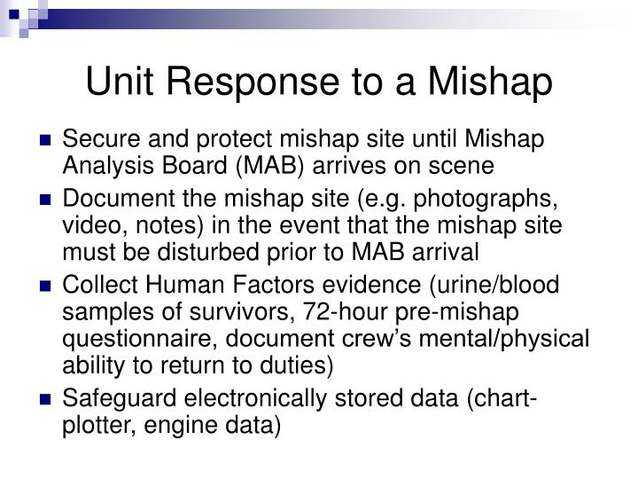 Unit Response to a Mishap